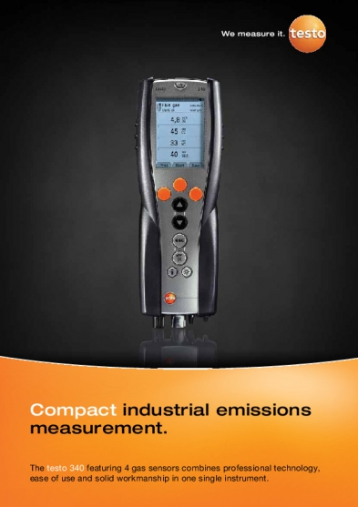 testo 340 flue gas analyzer manual